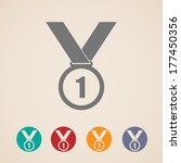 set of medal icons | Shutterstock .eps vector #177450356
