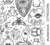 mystic  magic  background.... | Shutterstock .eps vector #1774521596