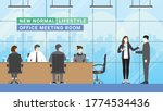 business meeting lifestyle... | Shutterstock .eps vector #1774534436