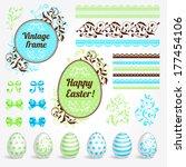 vector set of ester holidays... | Shutterstock .eps vector #177454106