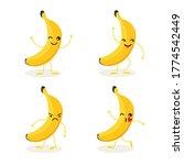 vector cartoon banana character ... | Shutterstock .eps vector #1774542449