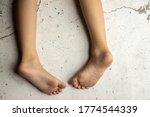 Children's Bare Feet. Child's...