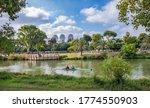 Landscape Of  Yarkon River In...