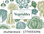 hand drawn sketch vegetables... | Shutterstock .eps vector #1774553396