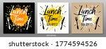 lunch time bon appetit  enjoy... | Shutterstock .eps vector #1774594526