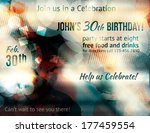 funky abstract party invitation ... | Shutterstock .eps vector #177459554