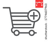 add to shopping cart line icon  ...