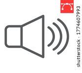 speaker volume line icon  ui...