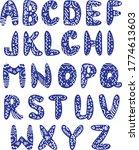 funny ethnic font for... | Shutterstock .eps vector #1774613603