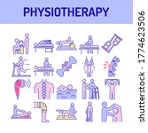 physiotherapy line color icons... | Shutterstock .eps vector #1774623506
