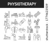 physiotherapy line black icons...   Shutterstock .eps vector #1774623509