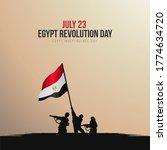 july 23 revolution ...   Shutterstock .eps vector #1774634720