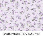 seamless pattern of millefleurs ... | Shutterstock .eps vector #1774650740