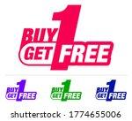 buy one get one free. bogo...   Shutterstock .eps vector #1774655006