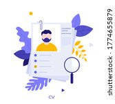 curriculum vitae or cv and... | Shutterstock .eps vector #1774655879