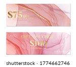 pink watercolor banner ... | Shutterstock .eps vector #1774662746