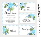 wedding invitation  thank you... | Shutterstock .eps vector #177467270