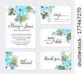 wedding invitation  thank you... | Shutterstock .eps vector #177467270