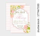 wedding invitation   Shutterstock .eps vector #177467330
