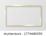 golden frame in rectangle shape ...   Shutterstock .eps vector #1774680350