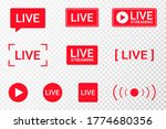 set of live streaming icons.... | Shutterstock .eps vector #1774680356