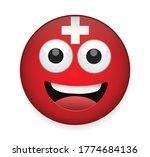 switzerland flag face vector... | Shutterstock .eps vector #1774684136