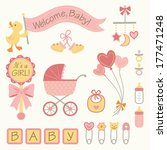 vector set of baby girl icons | Shutterstock .eps vector #177471248