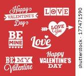 happy valentine's day vector...   Shutterstock .eps vector #177471590