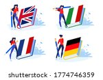 language school and courses.... | Shutterstock .eps vector #1774746359
