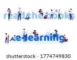 read the books and e learning.... | Shutterstock .eps vector #1774749830