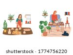 set of people in the house who... | Shutterstock .eps vector #1774756220