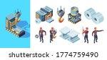 metallurgy factory. iron...   Shutterstock .eps vector #1774759490