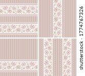 seamless floral patterns set....   Shutterstock .eps vector #1774767326