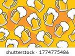 patterning of draft beer mugs... | Shutterstock .eps vector #1774775486