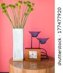 Vase Of Papyrus Flower With...
