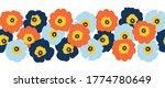 seamless vector flower border...   Shutterstock .eps vector #1774780649