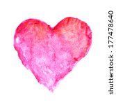 watercolor heart. romantic card ... | Shutterstock . vector #177478640
