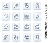 medicine contour icons on... | Shutterstock .eps vector #177479618
