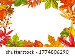 Seasonal Fall Frame With Autumn ...