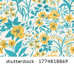 seamless vintage floral pattern.... | Shutterstock .eps vector #1774818869
