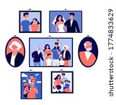 pictures of happy family in... | Shutterstock . vector #1774833629