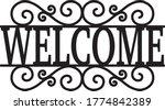 welcome sign vintage decor... | Shutterstock .eps vector #1774842389