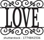 love sign vintage decor... | Shutterstock .eps vector #1774842536