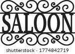 saloon sign vintage decor... | Shutterstock .eps vector #1774842719