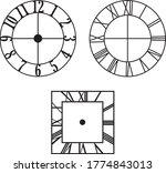 clock vintage models style... | Shutterstock .eps vector #1774843013