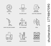 set of vector linear icons for... | Shutterstock .eps vector #1774847090