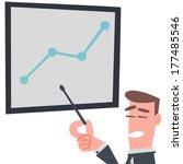businessman with presentation...   Shutterstock .eps vector #177485546