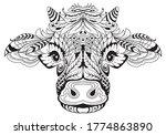 Cow Head Female Symbol Of 2021. ...