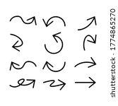 a set of line shaped arrow...   Shutterstock .eps vector #1774865270