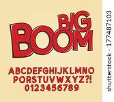 abstract boom pop art font and... | Shutterstock .eps vector #177487103